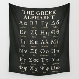 The Greek Alphabet Wall Tapestry