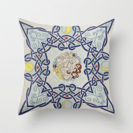 Life and Moon cycles  Throw Pillow