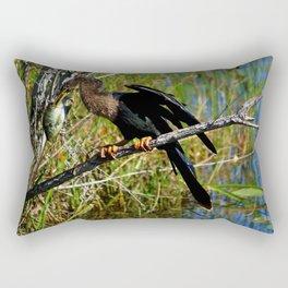A Darters Meal Rectangular Pillow