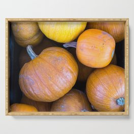Pile of pumpkins Serving Tray