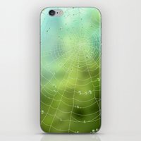 spider iPhone & iPod Skins featuring spider by Antracit