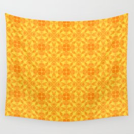Yellow ornament Wall Tapestry