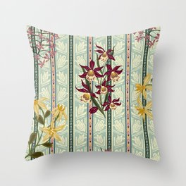 Orchids No.4 Throw Pillow