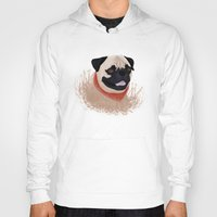 pug Hoodies featuring Pug by Nir P