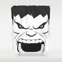 Hulk Black & White Trendy Art Shower Curtain