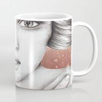 sleeping beauty Mugs featuring Sleeping Beauty by Kayleigh Day