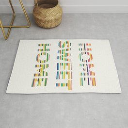 Home sweet home typography Rug