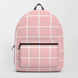Grid - pale rose Backpack