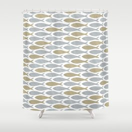 shoal of herring Shower Curtain