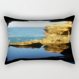 "Inside ""The Grotto"" Looking Out! Rectangular Pillow"