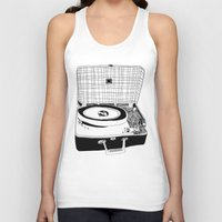 record Tank Tops featuring Record Player by Paul McCreery