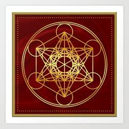 Metatrons Cube, Flower of life, Sacred Geometry Art Print
