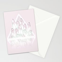 Crystals - Pink Stationery Cards
