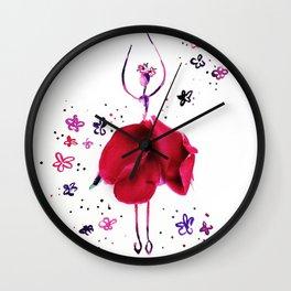 Flower Dancer Wall Clock