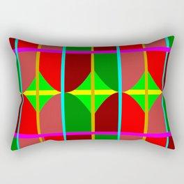 Multicolored Tribal Rectangular Pillow