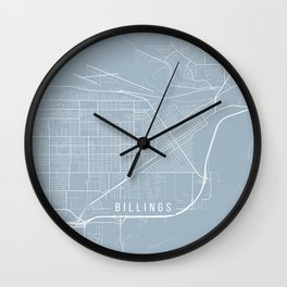 Billings Map, USA - Slate Wall Clock