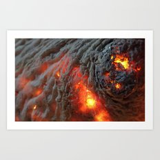 Flaming Seashell 1 Art Print
