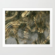 Nightmare in the catacombs Art Print