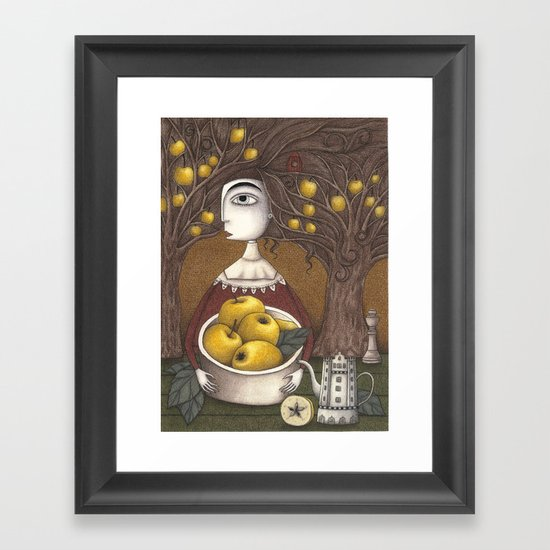 Portrait of an Apple Orchard Framed Art Print