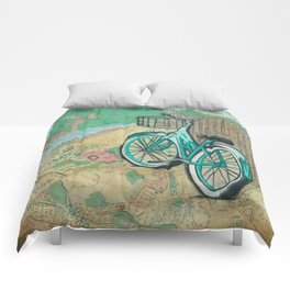San Fransico Bicycle Revelry Comforters