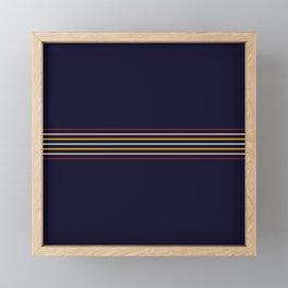 Thin Classic Retro Lines Framed Mini Art Print