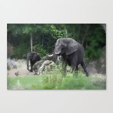 Elephant One Canvas Print