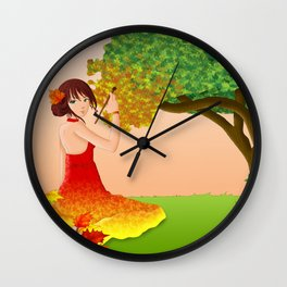 L'automne Wall Clock