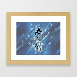 "Aeriaist ""Set your goals High"" Graphic Framed Art Print"