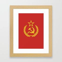 Communist Cold War Flag Framed Art Print