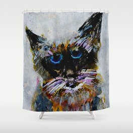 Old Cat Shower Curtain