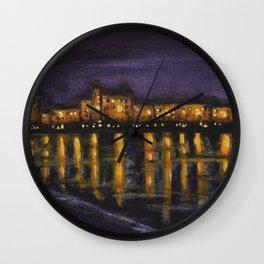 Night in Prague Wall Clock