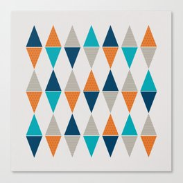 Colorful Triangle Pairs Canvas Print