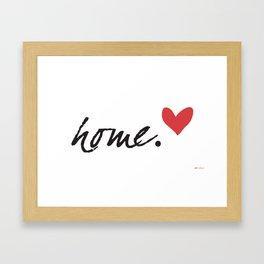 Love Home Framed Art Print