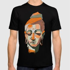 Buddha Mens Fitted Tee MEDIUM Black