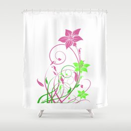 Spring's flowers Shower Curtain
