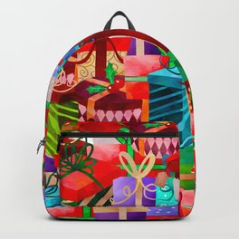 Christmas Presents Galore - Bright Neon Christmas Gift Pattern Backpack