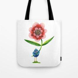 Red Wonder Flower Tote Bag