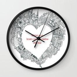 Wherever you go Wall Clock