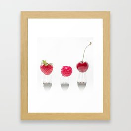 3 fruits, 3 forks Framed Art Print