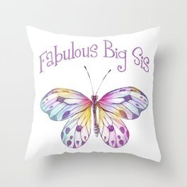 Fabulous Big Sister Butterfly Gifts Throw Pillow