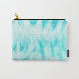 Arctic Aqua Ice Abstract Carry-All Pouch