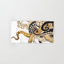 Metallic Octopus Hand & Bath Towel