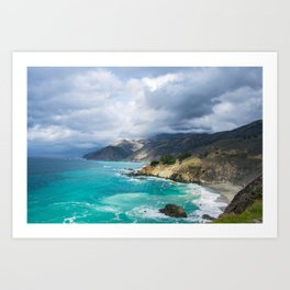 Parting Clouds in Big Sur Art Print