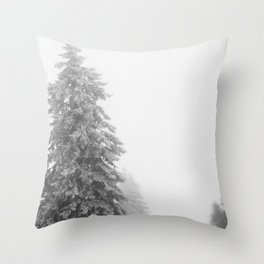 Snow Lift // Ski Chair Lift Colorado Mountains Black and White Snowboarding Vibes Photography Art Pr Throw Pillow