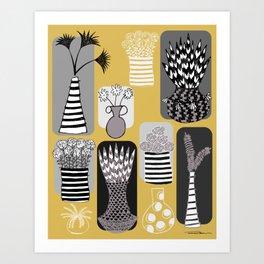 Vases and Stripes Art Print