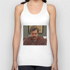 Ron Swanson, Nick Offerman, Parks and recreation Unisex Tank Top