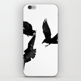 A Trio of Crows iPhone Skin