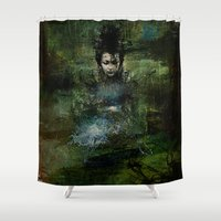 chinese Shower Curtains featuring Chinese shade by Ganech joe