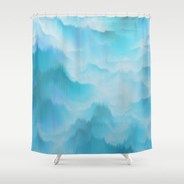 Clouds and mountains. Abstract. Shower Curtain