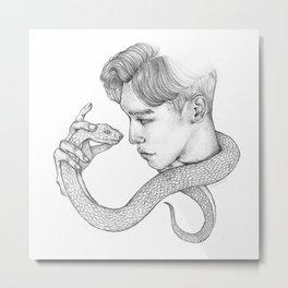 Chen x Snake Metal Print